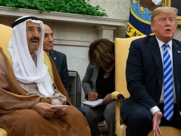 ترامپ و امیر کویت