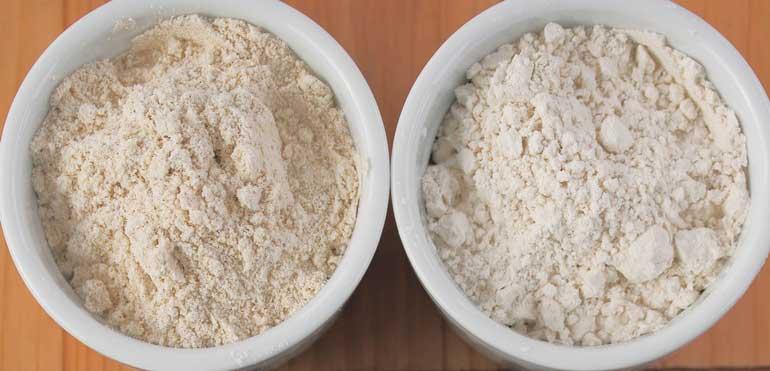 مقایسه آرد برنج و آرد گندم
