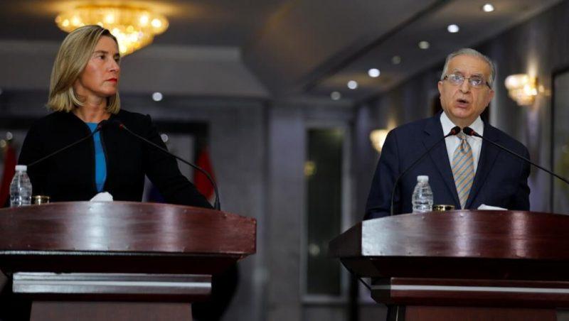 دیدار وزیر خارجه عراق و فدریکا موگرینی