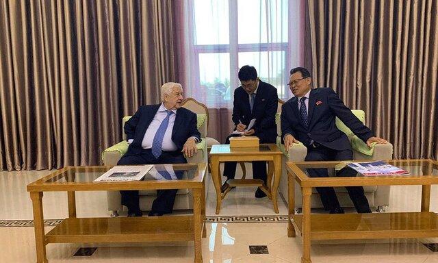 سفر وزیر خارجه سوریه به کره شمالی