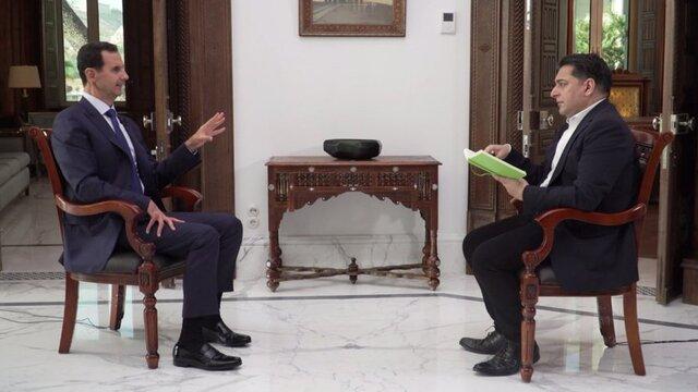مصاحبه بشار اسد