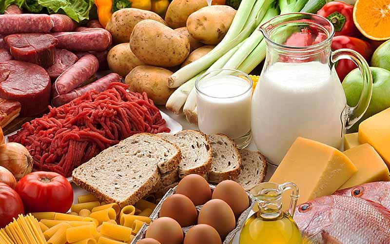 لیست خرید مواد غذایی