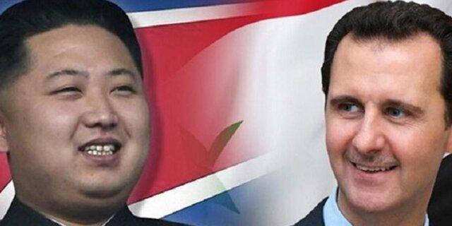 دیدار هیئت کوریای شمالی با بشار اسد