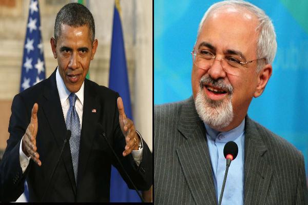 دست دادن ظریف و اوباما