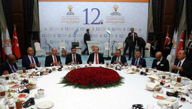 اردوغان در مراسم افطاری موسسه بیرلیک واقفی