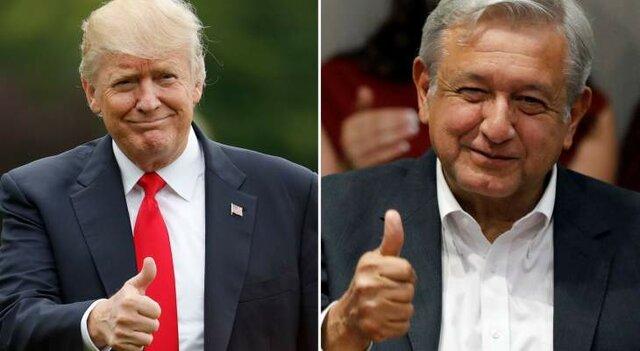 رئیس جمهور مکزیک و آمریکا
