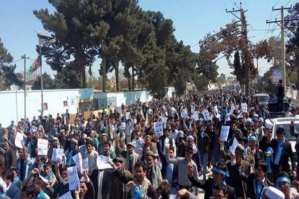 تظاهرات مردم بلخ