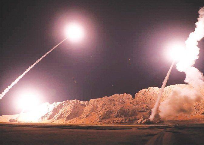 حمله موشکی ایران